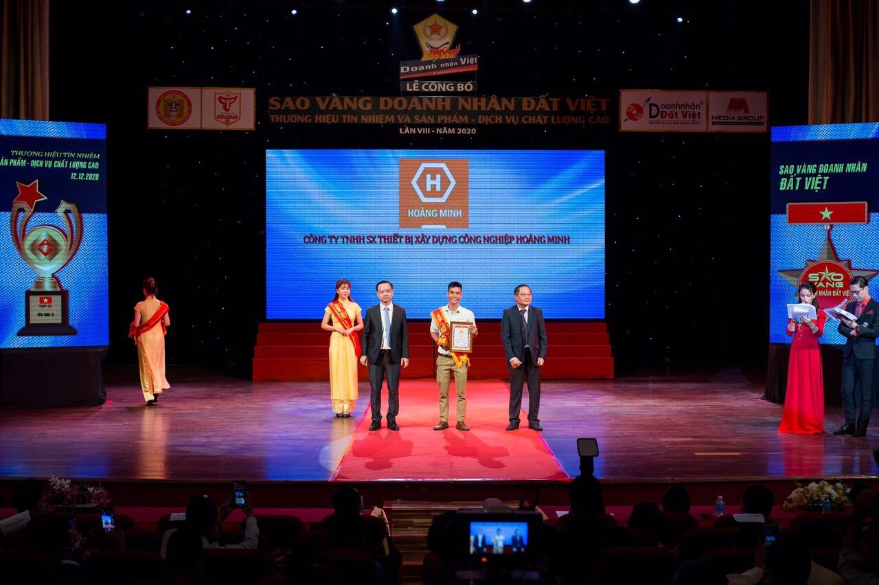 Hoàng Minh Vinh Danh Sao Vàng Doanh Nhân Đất Việt
